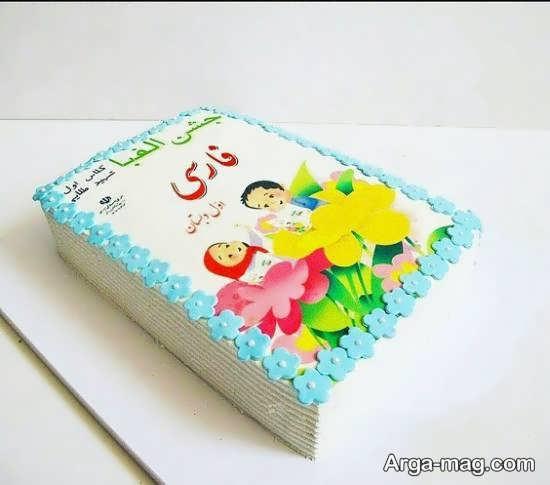 تزیین کیک جشن الفبا