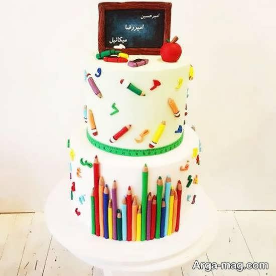 تزیینات شیک و لاکچری کیک جشن الفبا