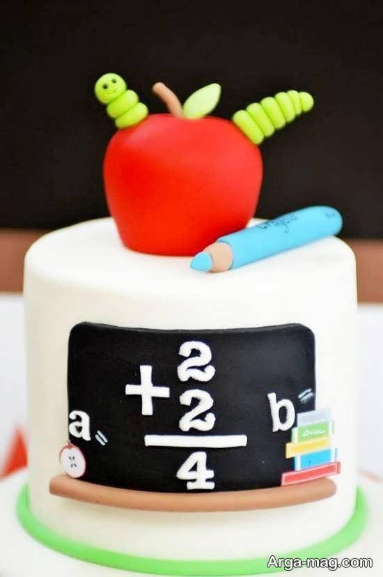 انواع نمونه های دیزاین و زیباسازی کیک جشن الفبا