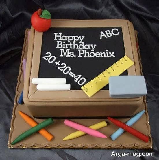 تزیینات خلاقانه کیک جشن الفبا