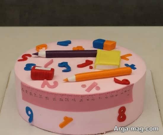 انواع ایده های تزیین کیک جشن الفبا