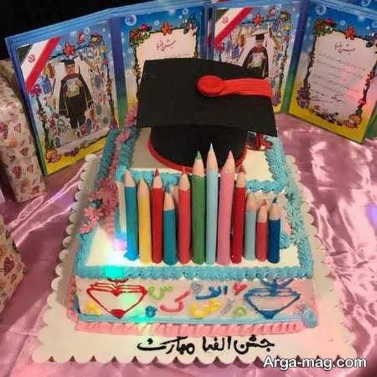 ایده هایی ایده آل از تزیین کیک جشن الفبا