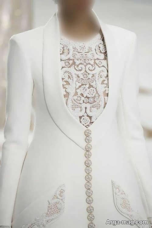 مدل مانتو سفید یقه امریکایی