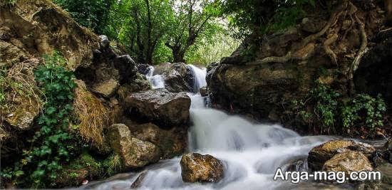 آبشار زیبا و خاطره انگیز در کلات