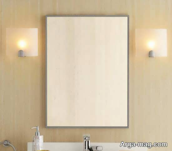 نمونه های زیبای آینه سرویس بهداشتی