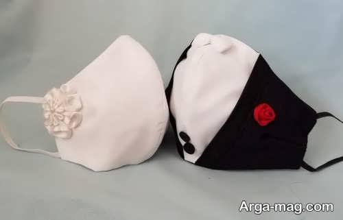 ماسک زیبا و جذاب برای عروس و داماد