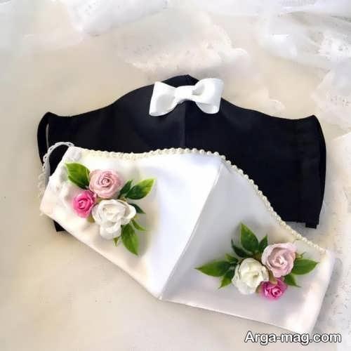 مدل ماسک گلدوزی شده برای عروس و داماد