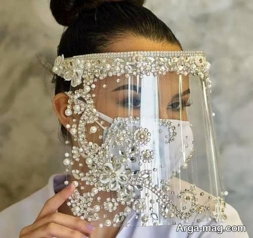 مدل ماسک و شید برای عروس
