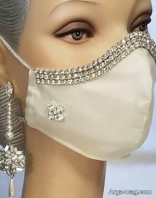 مدل ماسک تزیین شده برای عروس و داماد