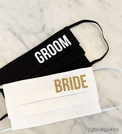 مدل ماسک ساده عروس و داماد