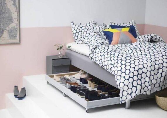 انواع تزیین زیر تخت خواب