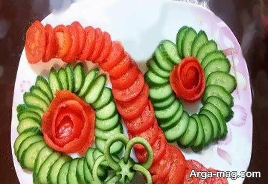 تزیینات زیبا و دوست داشتنی گوجه و خیار