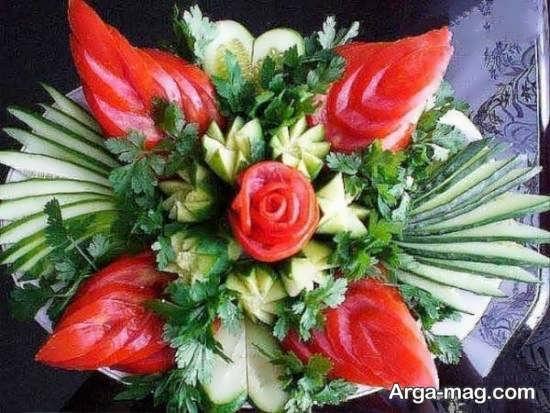 تزیین گوجه و خیار به شکلی اشتهابرانگیز برای صبحانه