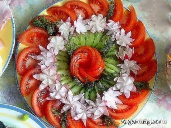 انواع نمونه های متفاوت تزیین گوجه و خیار