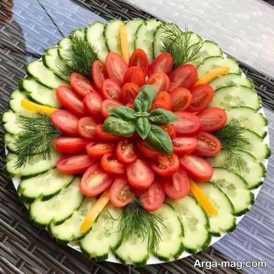 انواع نمونه های دوست داشتنی شکیل سازی گوجه و خیار