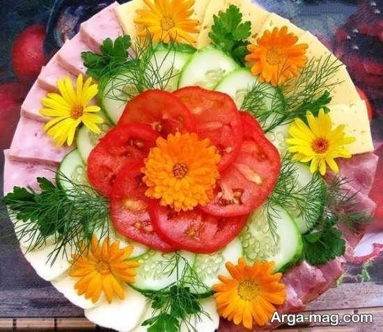 تزیینات زیبای گوجه و خیار