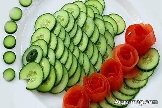 تزیین گوجه و خیار به شکل هایی متفاوت و با روش های متنوع