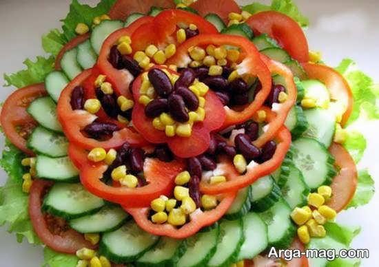 تزیینات دوست داشتنی گوجه و خیار