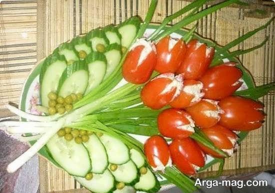 ایده های خاص تزیین گوجه و خیار
