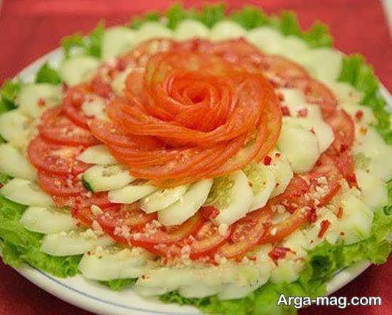 انواع ایده های زیباسازی گوجه و خیار
