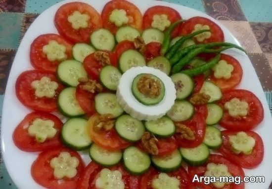 انواع ایده های متفاوت زیباسازی و شکیل سازی گوجه و خیار