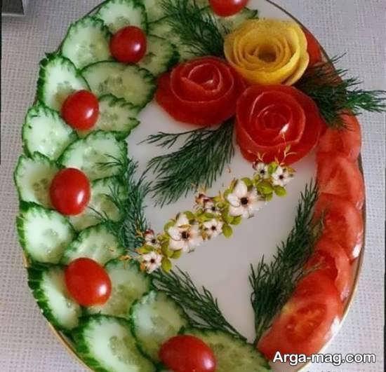 تزیینات ناب و نفیس گوجه و خیار