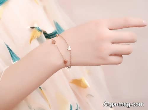 دستبند ساده و زیبا دخترانه