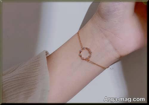 دستبند طلا و ساده دخترانه