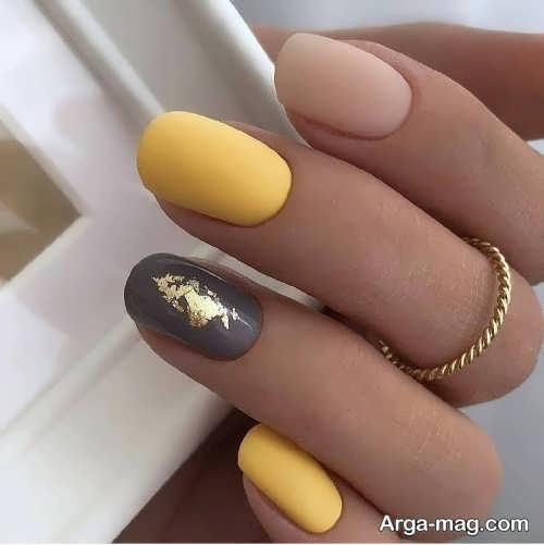 طراحی ناخن با ورق طلا