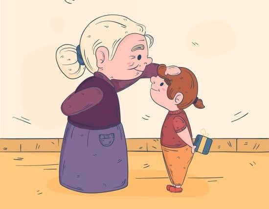 عکس پروفایل باحال مادربزرگ و نوه