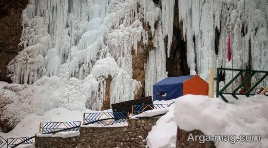 بازدید از آبشار یخی هملون