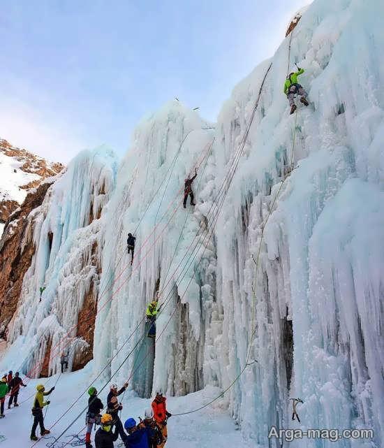 آشنایی با جغرافیا و مسیر دسترسی آبشار یخی هملون