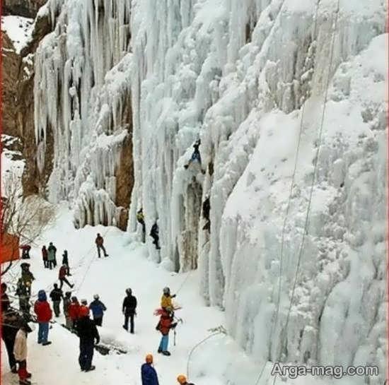 آبشار یخی هملون با زیبایی های چشم نواز