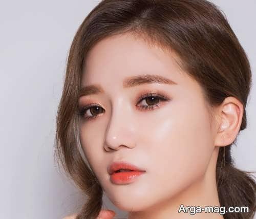 مدل آرایش چشم کره ای زنانه