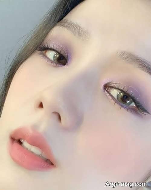 مدل آرایش چشم کره ای خاص و زیبا