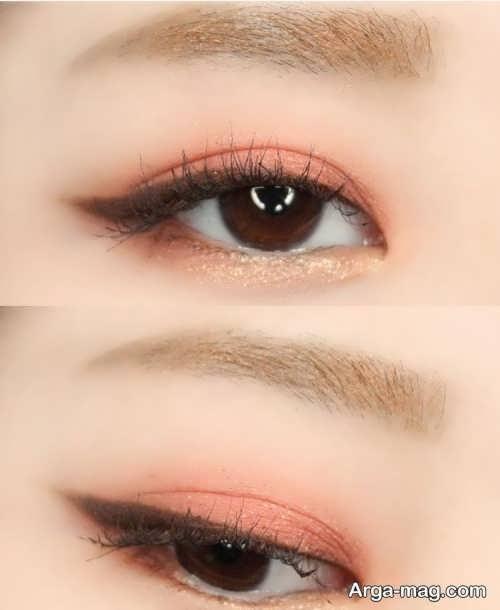 میکاپ چشم کره ای دخترانه