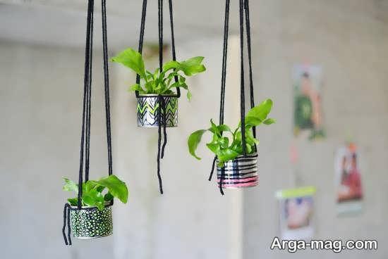 ایده های خلاقانه ساختن گلدان با قوطی کنسرو