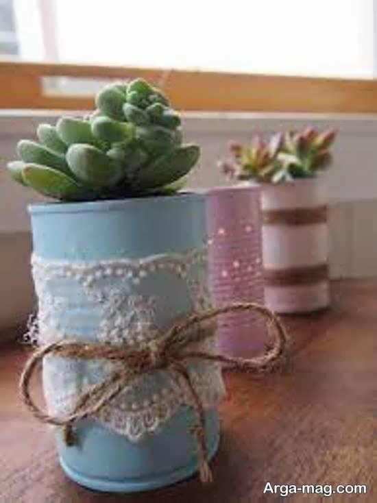 انواع نمونه های ایده آل ساختن گلدان با قوطی کنسرو