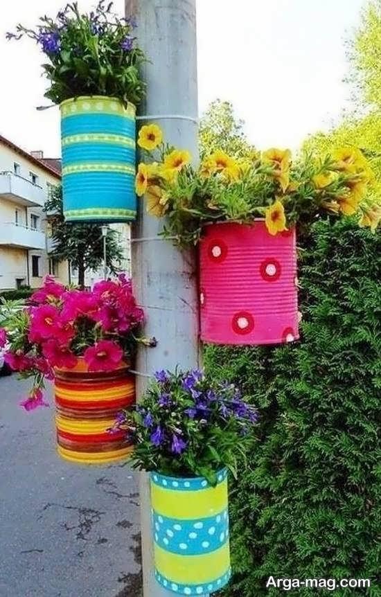 ساختن گلدان با قوطی کنسرو