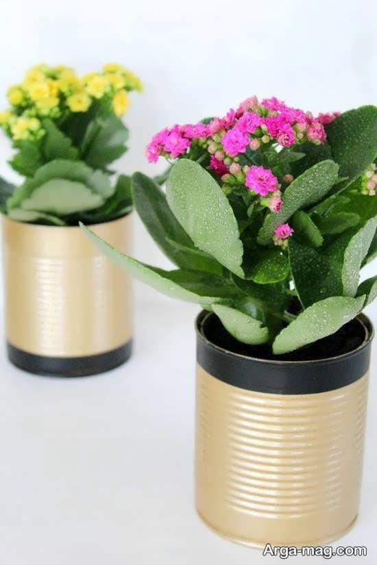 ساخت گلدان گل و گیاه با قوطی کنسرو