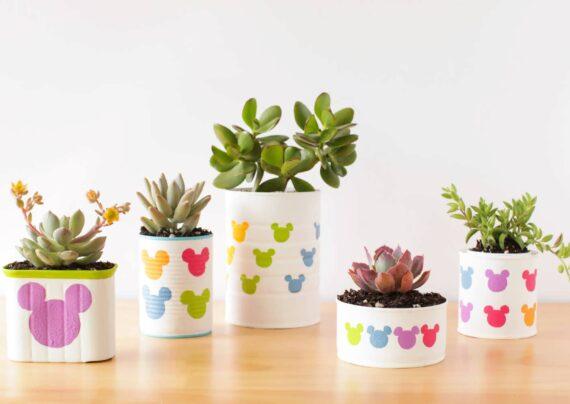 انواع نمونه های جذاب ساخت گلدان با قوطی کنسرو