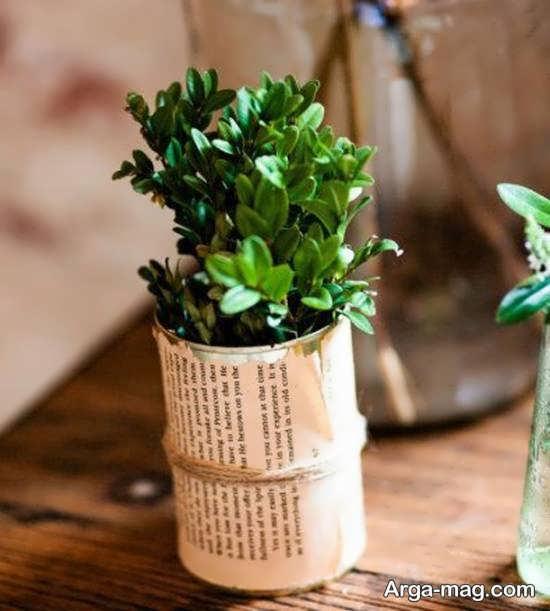 انواع ایده های جذاب و شیک ساخت گلدان با قوطی کنسرو