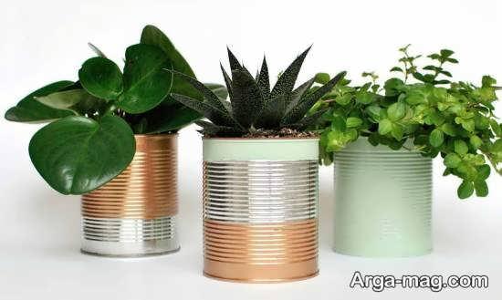 ساخت گلدان با قوطی کنسرو