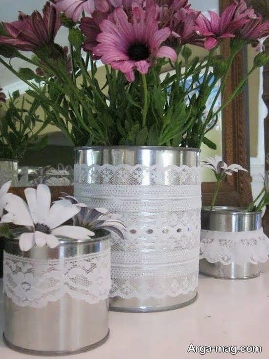 ایده هایی جالب و متنوع از ساختن گلدان با قوطی کنسرو
