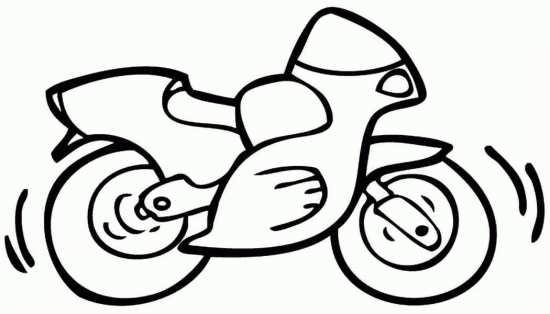 نقاشی موتور سیکلت