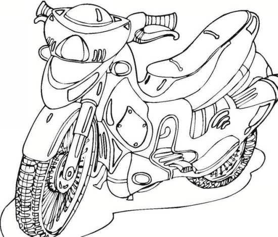 رنگ آمیزی موتور سیکلت برای بچه ها