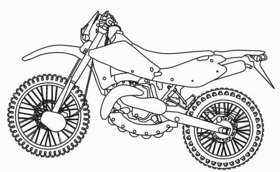 نقاشی زیبا موتور
