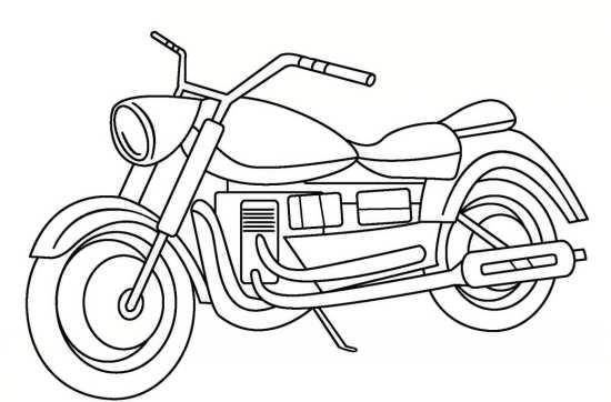 نقاشی ساده موتور