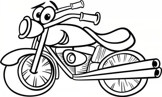 نقاشی فانتزی و ساده موتور