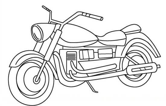 نقاشی جذاب موتور